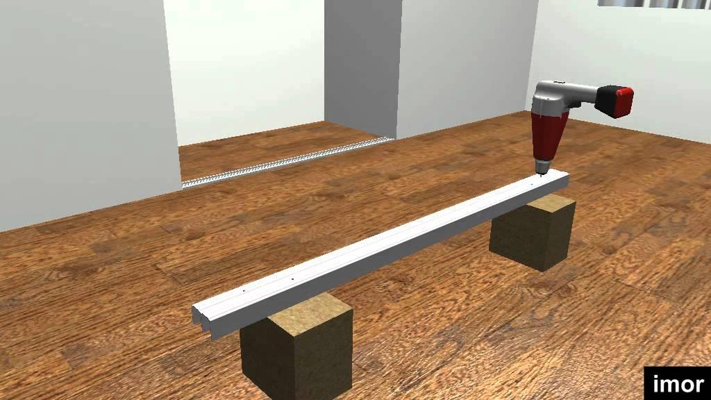 C mo instalar las puertas correderas para armarios gama - Como instalar una puerta corredera ...