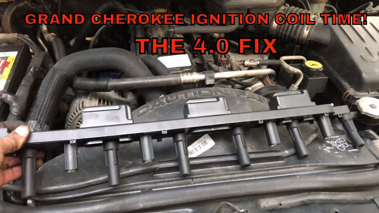 how to replace ignition coil 4 0 1999 2004 jeep grand cherokee [ 1280 x 720 Pixel ]