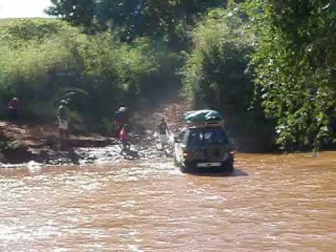 Car crossing river near town of Belobaka, Madagascar (2)