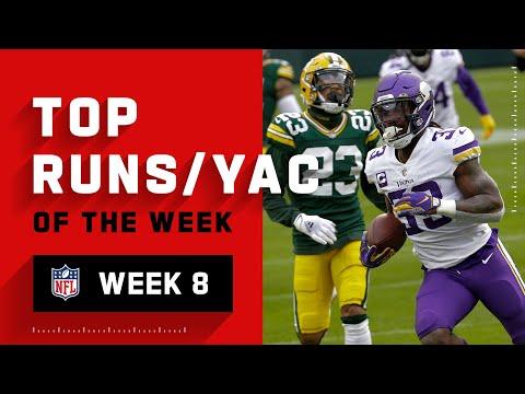 Top Runs U0026 YAC From Week 8 | NFL 2020 Highlights