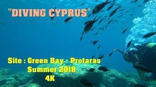 Diving Cyprus : Site - Green Bay , Protaras 4K