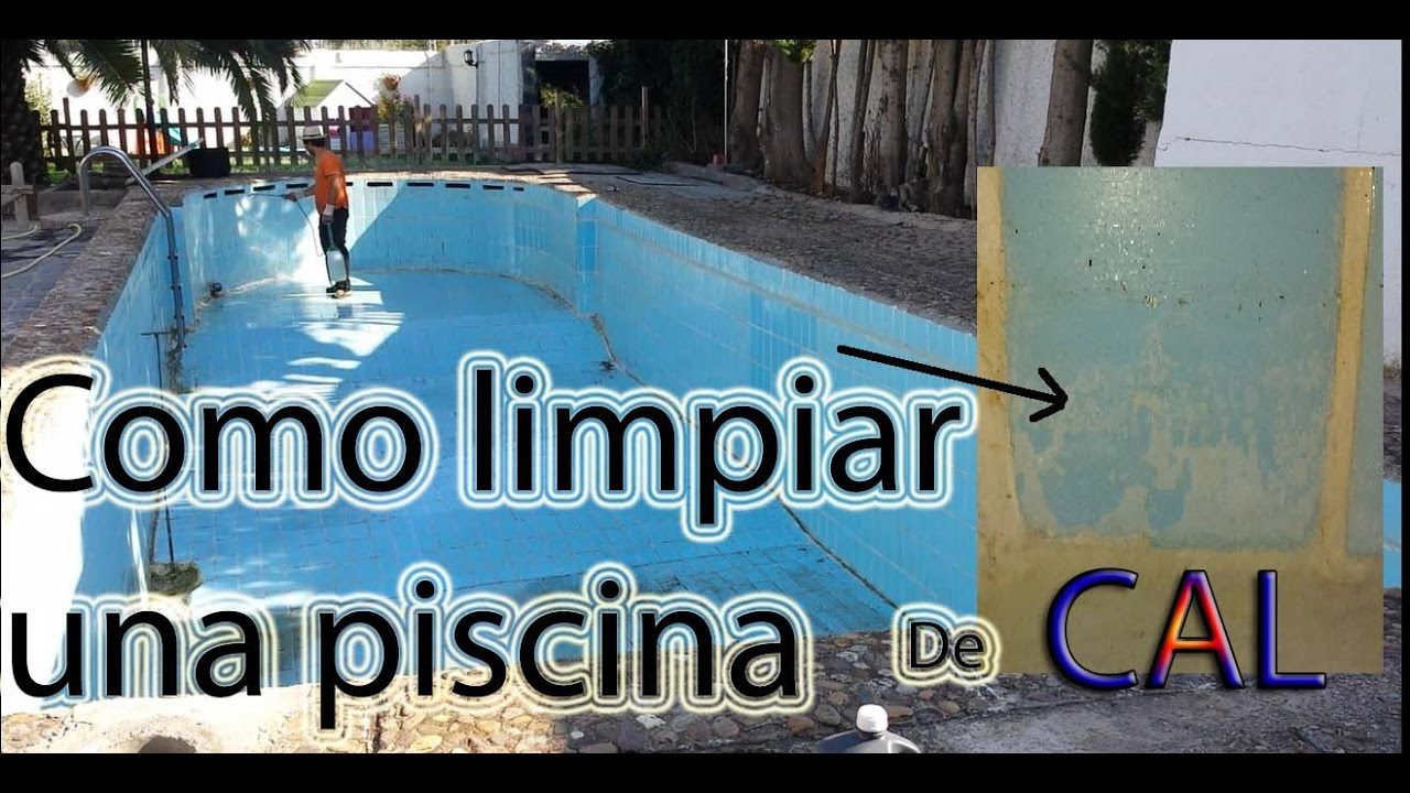 Como limpiar una piscina vacia de cal bricolaje youtube for Salfuman piscina