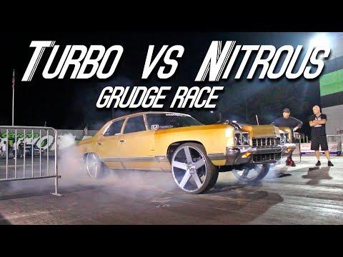 TWIN TURBO LS DONK VS ROZAY NITROUS BIG BLOCK DONK GRUDGE RACE - Big Rim Super Bowl 2018