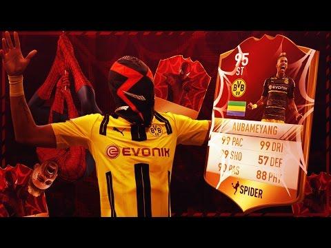 AUBAMEYANG SPIDERMAN THUMBNAIL SPEEDART! AUBAMEYANG SPIDERMAN MASK CELEBRATION THUMBNAIL IN FIFA 18