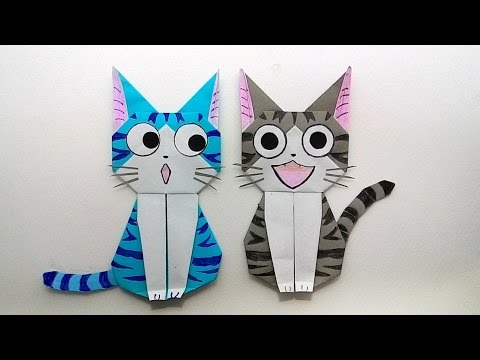 Origami cat Chi's sweet home/ พับกระดาษ แมวจี้ บ้านนี้ต้องมีเหมียว