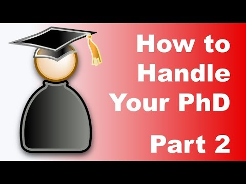 How to Handle Your PhD: Part 2 - outreach, teaching, problems, thesis