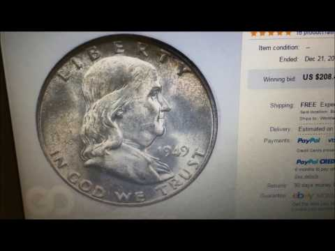 1949D BENJAMIN FRANKLIN HALF DOLLARS SELLS FOR $208!!
