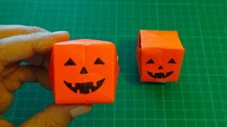 origami 【Halloween/3D paper balloon jack o'lantern】