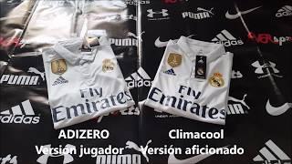 ADIZERO vs CLIMACOOL: Comparación Real Madrid local - VRsports