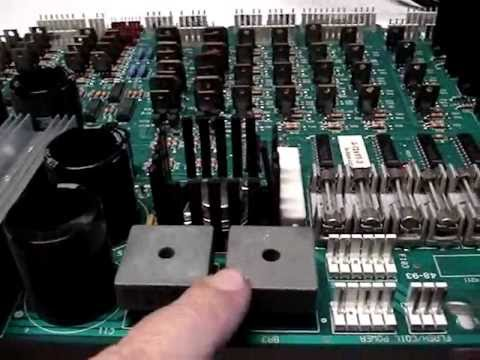 Replacing the Bridge Rectifiers and Filter Capacitors on the Power Driver Board