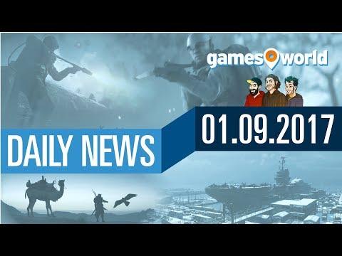 Battlefield 1 DLC Release, CoD WW2 Beta, AC Origins | Gamesworld Daily News - 01.09.2017