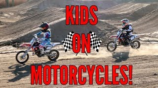 KIDS ON MOTORCYCLES!