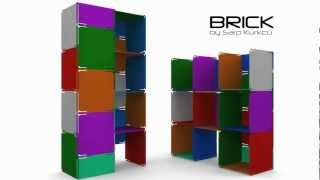 Brick Bookcase Design Video