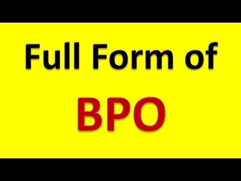 Full Form of BPO - YouTube