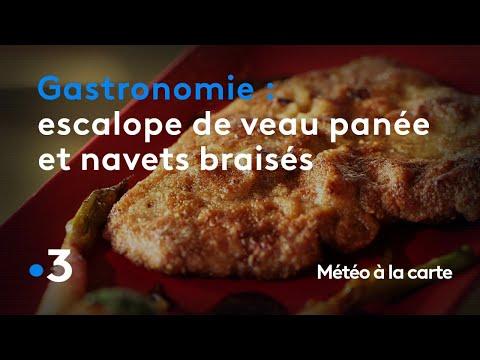 gastronomie-:-escalope-de-veau-panée-et-navets-braisés---météo-à-la-carte