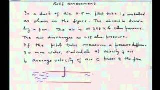 Mod-01 Lec-24 Macroscopic Energy Balance: Applications to Design Head Meters, Stack and Blowers