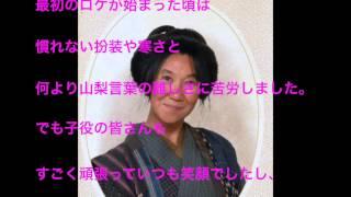 朝ドラ 花子とアン 室井滋さんのインタビューです.
