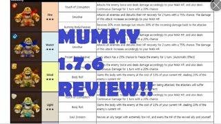 summoners war mummy new monster mummy review update 1 7 6 mummy anubis horus desert queen