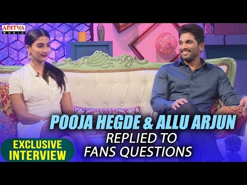 Allu Arjun & Pooja Hegde Replied To Fans...