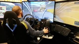 Farming simulator 2017 wheel + joystick, 3x50inch screens