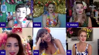 SATIN DOLLZ LIVE STREAM: Tiki Happy Hour with the LA Satin Dollz