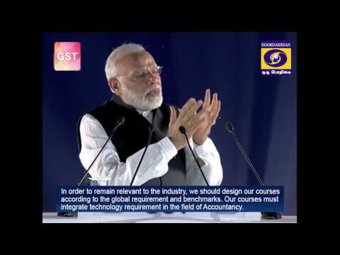 Tamil version of PM speech about GST on 01-07-2017 with English subtitile