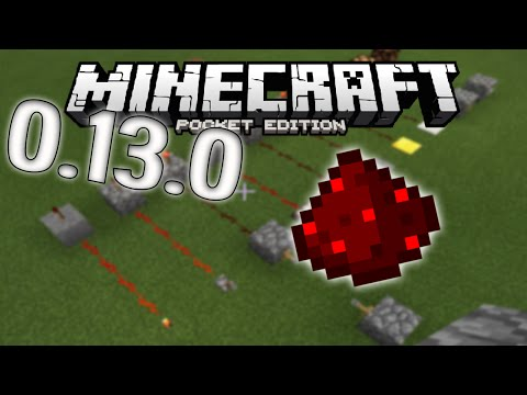 Minecraft PE 0.13.0 CONFIRMED Redstone Items and Mechanics - Update News