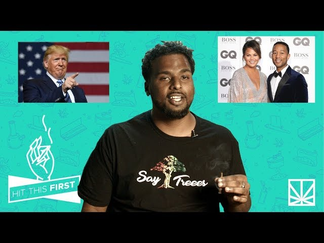 HIT THIS FIRST!! Twitter bully Donald Trump starts beef with John Legend + Chrissy Teigen