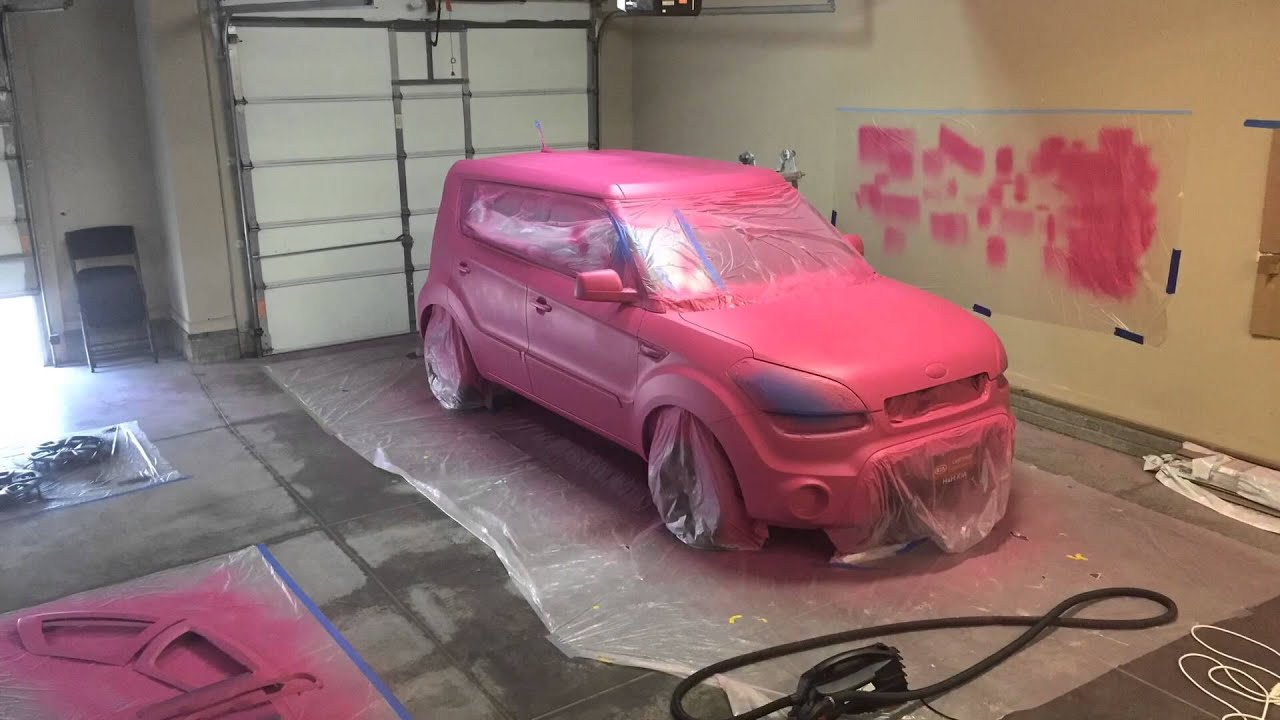 Liquid Wrapped Kia Soul | Pink Lemonade | Time Lapse - YouTube