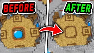 100% SECRET UNDERGROUND BASE! (Minecraft Bed Wars Trolling)