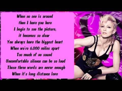 Madonna - Miles Away Karaoke / Instrumental with lyrics on screen