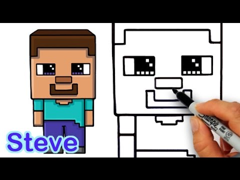 How to draw steve from minecraft cute and easy for beginners youtube