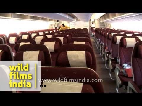 Inside view of Jet Airways flight - Boeing 777