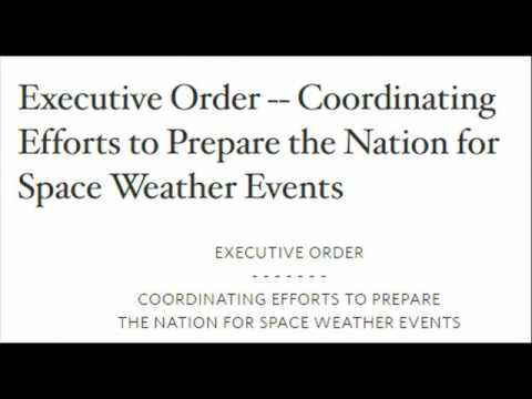 EMP/GRID COLLAPSE: Obama Signs A Counterterrorism Executive Order for Solar Flares???