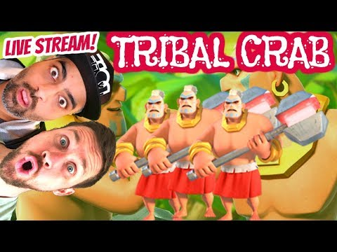 Boom Beach TRIBAL CRAB! - With CRAZY TURTLE & OPDESTROY!!! - May 2018 MEGA CRAB - Live Stream