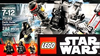 Lego Star Wars 2017 Трансформация Дарта Вейдера (75183) и наборы Лего Звёздные войны Обзор(Смотреть LEGO Star Wars 2017 года: Трансформация Дарта Вейдера (75183 Darth Vader Transformation), Побег от Рафтаров (75180 Rathtar Escape)..., 2017-02-26T14:57:52.000Z)