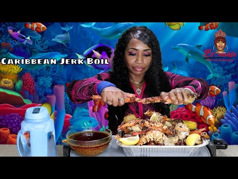 Seafood Boil Special Caribbean Jerk Style Lobster and King C