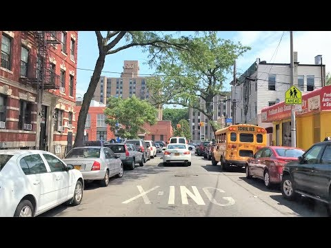 Driving Downtown - Little Italy - Bronx New York City NY USA