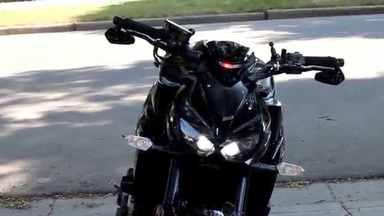 2014 2015 Z1000 Knightrider City Light Mod Youtube