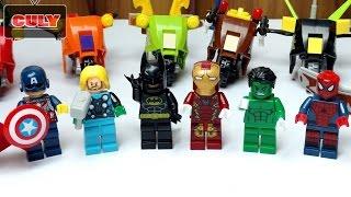 Bộ 8 siêu anh hùng The Avengers đua xe người nhện lego spiderman,superman,batman super heroes toy