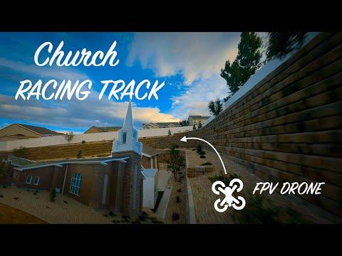 Фото Church Racing Track with FPV Drones
