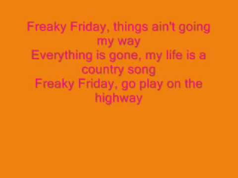 Aqua Freaky Friday w/ lyrics
