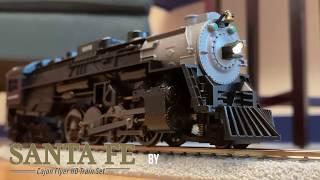 Santa Fe Cajon HO Train Set
