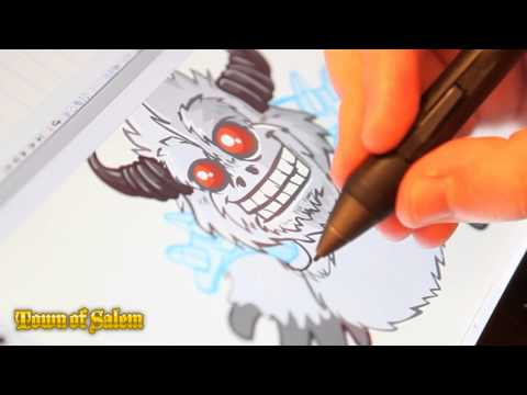 Town of Salem Art - Warrior Yeti Timelapse