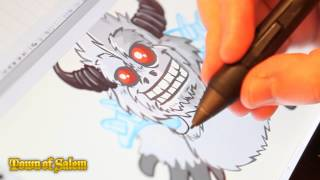 Town of Salem Art - Warrior Yeti Timelapse