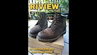 Unboxing & Riview Dr. Martens 939 Ben Boot Crazy Horse! 1 JUTAAN!