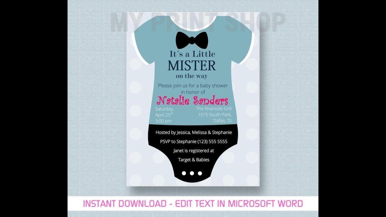 Make Free Baby Shower Invitations