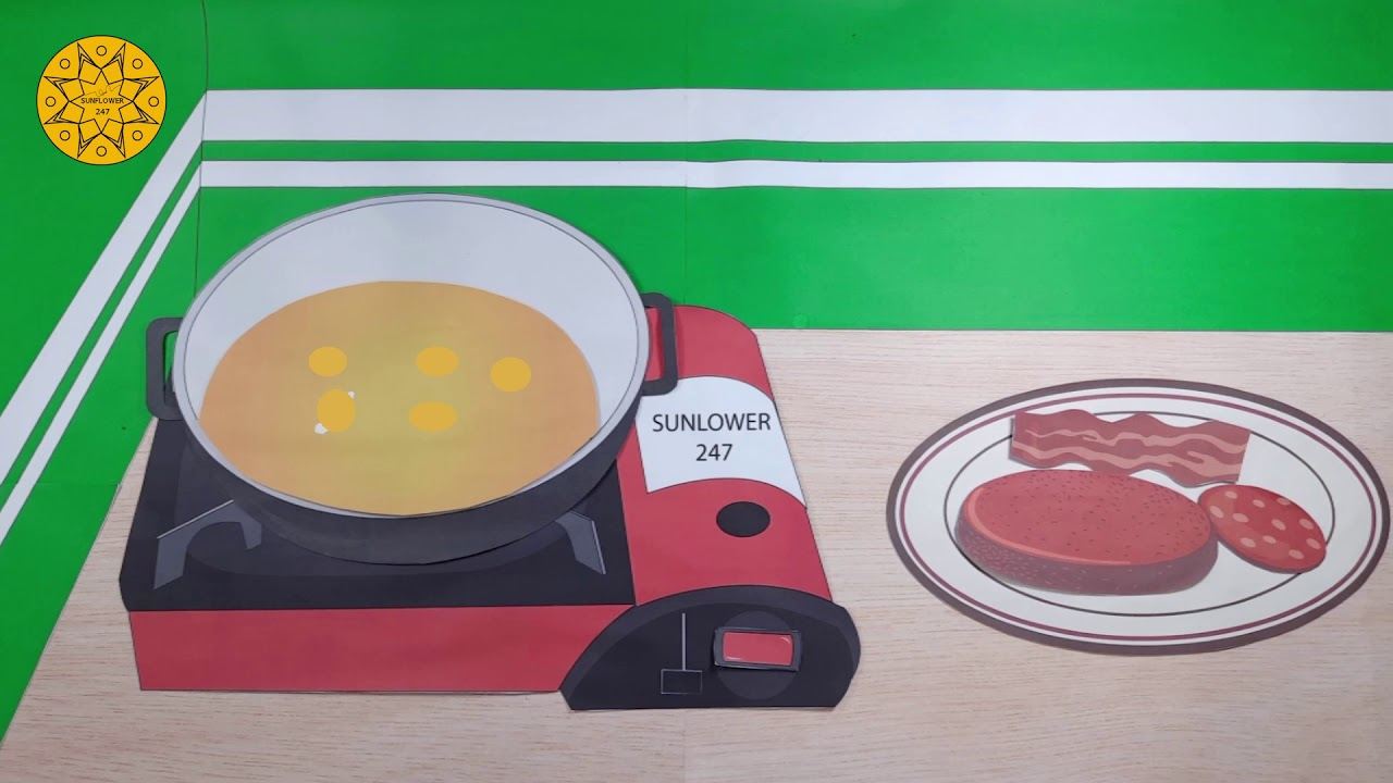 STOP MOTION COOKING - MAKING HAMBURGER - ASRM