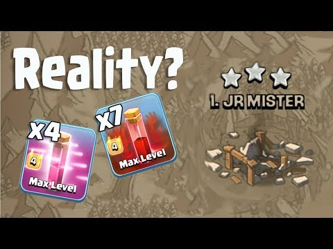 The Reality 7 Skeleton Spell 4 Haste Spell With LavaLoon TH11 3 Star War Attack Clash Of Clans