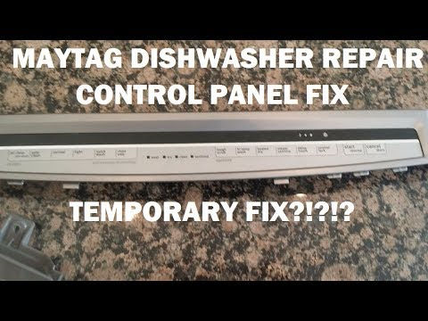 Maytag Dishwasher Repair Bad Control Panel W10438345 B